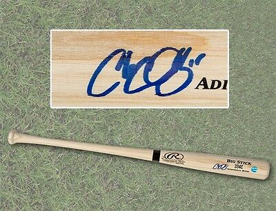 Chris Colabello Autographed Rawlings Big Stick Baseball Bat - Cleveland Indians