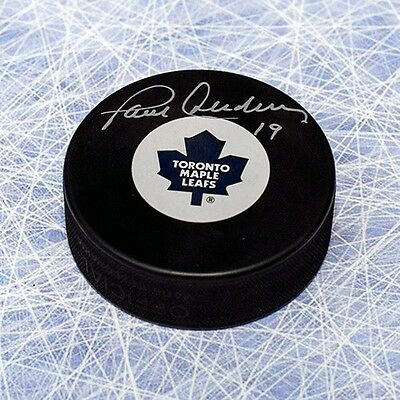 Paul Henderson Toronto Maple Leafs Autographed Hockey Puck