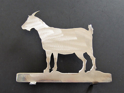 Goat Pygmy mailbox topper Bare Metal Steel Plaque Art silhouette 7 inch USA