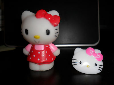 Vintage By SANRIO Hello Kitty Mini & Matching Kids Ring Lot of 2pcs from JAPAN