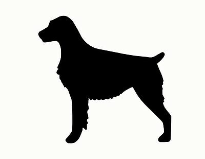 BRITTANY SPANIEL metal steel not painted 10 inch silhouette