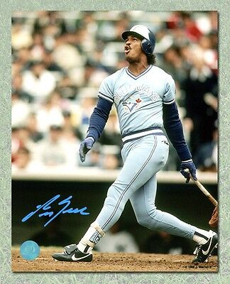George Bell Toronto Blue Jays Autographed Powder Blue Batting 11x14 Photo