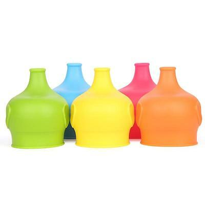 Spill Proof Food Grade Silicone Baby Kids Sippy Lids -Reusable & Durable 5 color