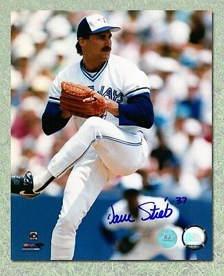 Dave Stieb Toronto Blue Jays Autographed Pitching Close-Up 8x10 Photo