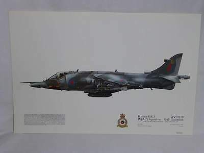 Harrier GR. 3 XV73, IV Squadron Print RAF Gutersloh Aviation Art Print (30)