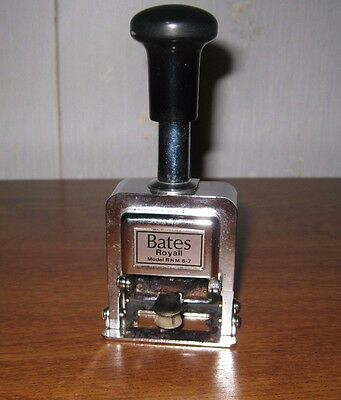 Bates Automatic Numbering Machine - Numeroteur - Royall - RNM6-7