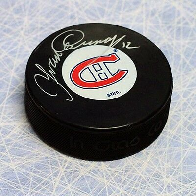 Yvan Cournoyer Montreal Canadiens Autographed Hockey Puck