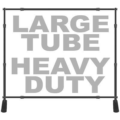 "8x10 Large Tube Step Repeat Banner Stand Telescopic Backdrop 1.5"" Dia Heavy Duty"