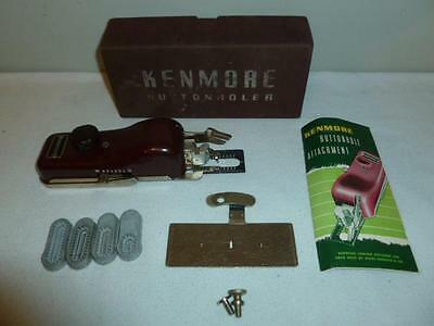 Vintage Kenmore Buttonholer No. 60706 with Templates Case & Instruction Book