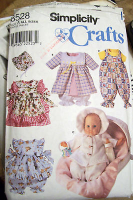 """Simplicity 12"""" - 22 """" Baby Doll Variety  Clothing Pattern"""