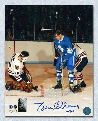 Terry Clancy Toronto Maple Leafs Action Autographed 8x10 Photo