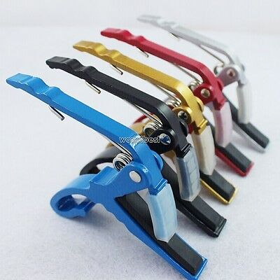 Premium Guitar Capo: Quick Change Trigger Clamp for Acoustic Electric 12 String