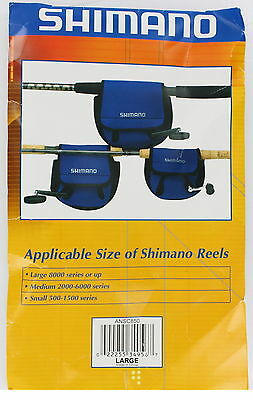 Discounted Blue Shimano Neoprene Spin Fishing Reel Cover ANSC850 Large