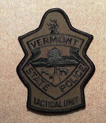 WV Vermont State Police Tactical Unit Patch (Olive)