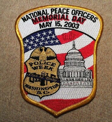 US National Peace Officers Memorial Day Police Week Washington DC Patch