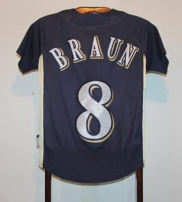 Maillot Trikot Jersey Mlb Baseball Ryan Braun Milwaukee Brewers XS
