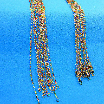 "16""-30"" 10X Wholesale Jewelry 18K GOLD FILLED Rolo ""O""Words Link Chain Necklace"