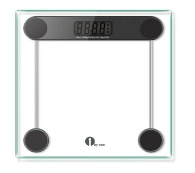 Tempered Glass Digital Scale Body Weight Automatic 180kg Capacity Calibrated