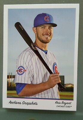 2016 topps snapshots limited edition online only card of Kris Bryant. Cubs