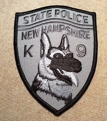 NH New Hampshire State Police K-9 Unit Patch