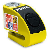 Xena Xzz6-Y 6Mm Pin Motorbike Motorcycle Security Scooter Disc Lock Alarm Yellow