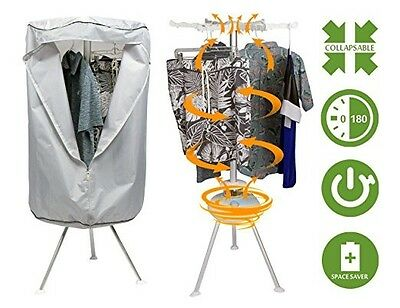 Collapsible Round Portable Clothes Dryer - Mini Electric Clothing Dryer that Dri