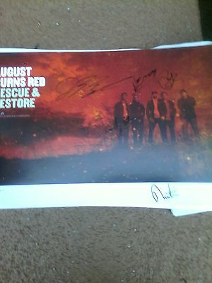 August Burns Red Rescue & Restore Poster Signed By All