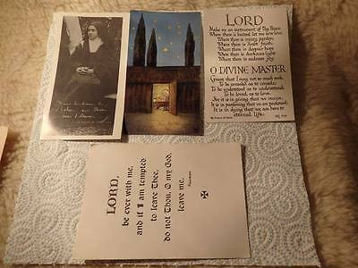 @ Vintage Religous Prayer Cards - St Therese - Manger - Lord (G)