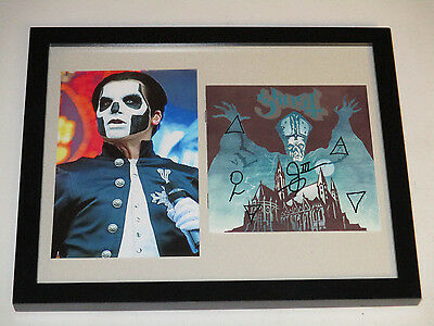Ghost Bc Autographed Signed Framed Cd Cover 2 With Signing Picture Proof