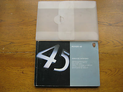Rover 45 Owners Handbook/Manual and Wallet 99-04