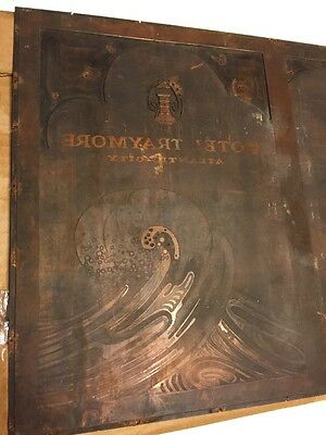 Copper Hotel Traymore  Atlantic City Menu Printing Plate Estate
