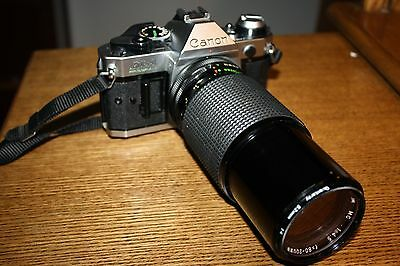 Canon AE-1 Program 35mm Camera with Star-D Zoom 1:4.5 f=80-200 mm lens very nice