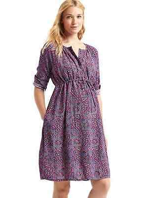 Gap Women's Maternity Paisley Popover Shirt dress Size M