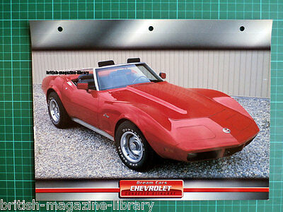 1974 Chevrolet Corvette Stingray - Dream Cars Atlas Edition
