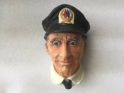 Vintage Bossons Chalkware Sea Captain 1972 Wall Plate Decoration