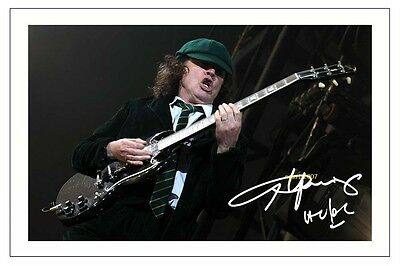 4x6 SIGNED AUTOGRAPH PHOTO PRINT OF ANGUS YOUNG #35