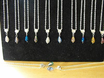 Wholesale Jewellery Joblot 12 Stunning Necklaces, Pear Drop Pendant.gift, Party