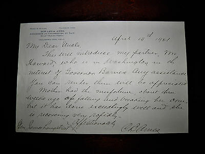 Letter to Gen. James Longstreet From His Nephew Charles Ames 1901