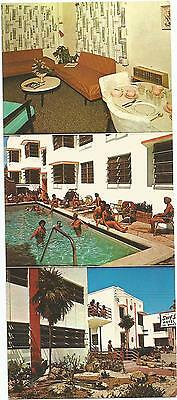 Surf Side Six Motel and Apartments Miami Beach Florida Long Multiview Postcard