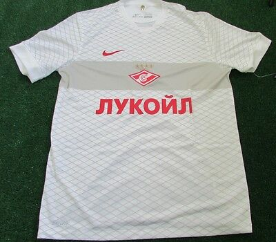 Nike Spartak Moscow Away Football Shirt White/ Gold  BNWT Large Mens