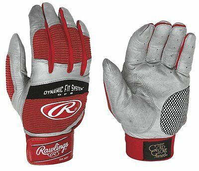 New Rawlings Workhorse 950 Batting Gloves - Scarlet - Adult