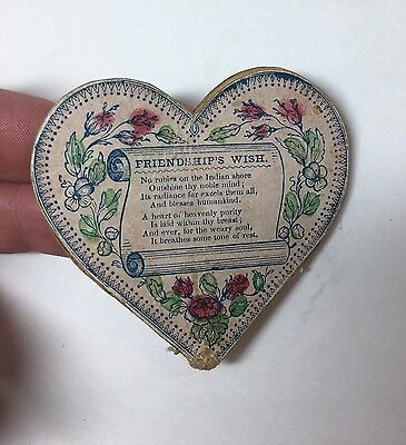 RARE Valentine - 1840 Victorian Heart Shaped Mechanical Purse Love Token America