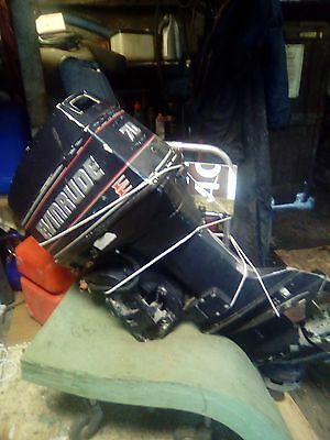 70hp evinrude outboard engine,1994,500hours on engine,running but needs attenion