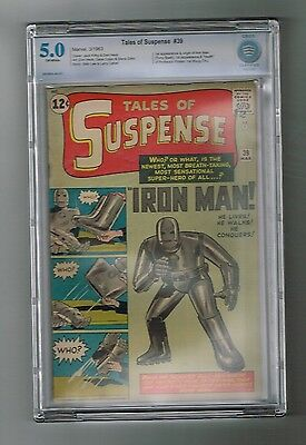 TALES OF SUSPENSE #39 Silver Age key: 1st IRON MAN appearance! CBCS grade 5.0