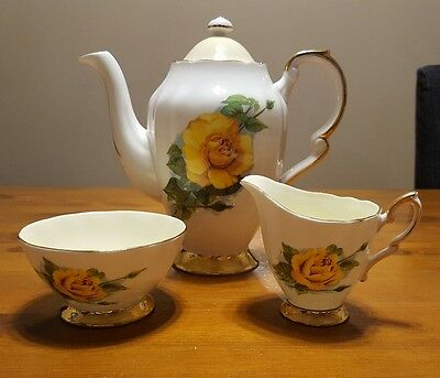Paragon Harry Wheatcroft Famous Roses Bone China Coffee Set