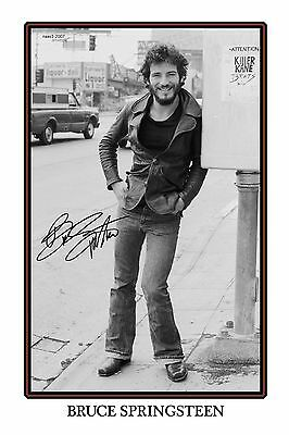 4x6 SIGNED AUTOGRAPH PHOTO PRINT OF BRUCE SPRINGSTEEN #25