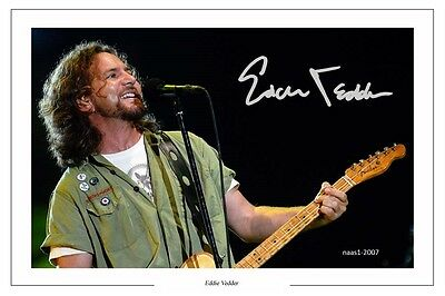 4x6 SIGNED AUTOGRAPH PHOTO PRINT OF EDDY VEDDER #25
