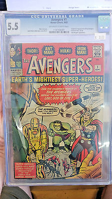 AVENGERS (V1) #1 CGC Grade 5.5! Highly desired Silver Age key issue!