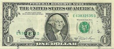 1981-A $1 Richmond Federal Reserve Error Note ~ Major Third Print Shift ~ Neat