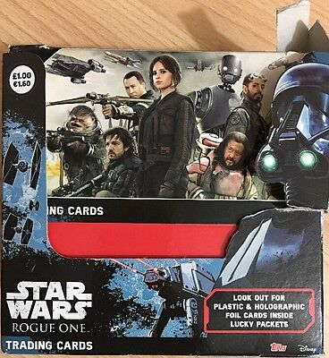 Topps Star Wars Rogue One Trading Cards Full Box X 36 Packets & Starter Pack